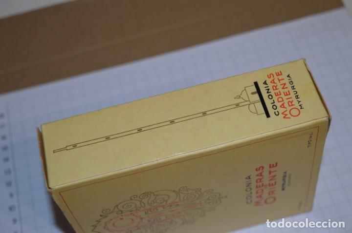 Miniaturas de perfumes antiguos: 1/4 Litro / Muy antiguo, frasco / MADERAS DE ORIENTE - MYRURGIA - Original - ¡Mira fotos/detalles! - Foto 14 - 260832050