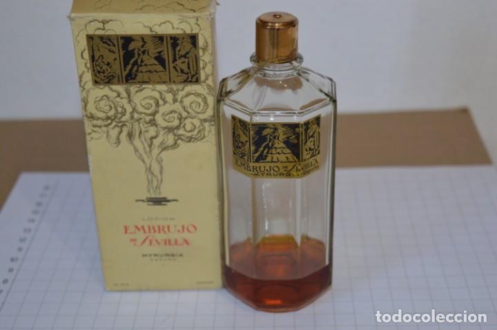 Miniaturas de perfumes antiguos: Muy antiguo, frasco / Loción EMBRUJO de SEVILLA de MYRURGÍA - Original - ¡Mira fotos/detalles! - Foto 2 - 260834030