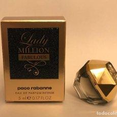 Miniaturas de perfumes antiguos: MINIATURA LADY MILLION FABULOUS. Lote 261956285