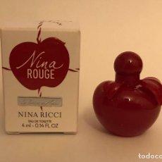 Miniaturas de perfumes antiguos: MINIATURA NINA ROUGE. Lote 261956490