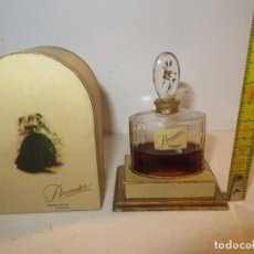 Miniaturas de perfumes antiguos: EXTRACTO PROMESA 857 MYRURGIA,BARCELONA. FRASCO SIN ABRIR PERO CON PÉRDIDA. 9X4X6 CMS CAJA,REGALADA. Lote 262031230