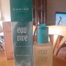 Miniaturas de perfumes antiguos: CARVEN PARIS EAU DE TOILETTE 125 ML.. Lote 264419339