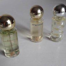 Miniaturas de perfumes antiguos: COLECCIÓN 3 MINIATURA DE PERFUME COURREGES. Lote 264754129