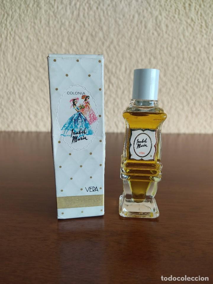 Miniaturas de perfumes antiguos: Botella de colonia Isabel de Maria de Vera - Foto 3 - 267132629