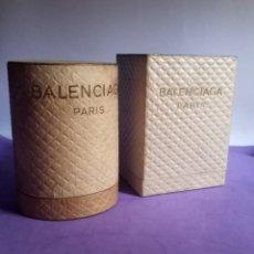 Miniaturas de perfumes antiguos: BALENCIAGA ANTIGUAS CAJAS PERFUME FLEETING MOMENT Y LE DIX AÑOS 40. Lote 269493748