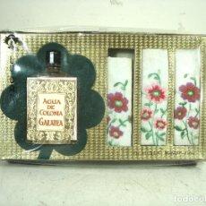 Miniaturas de perfumes antiguos: AGUA DE COLONIA GALATEA + 3 PAÑUELOS-UNION ALCOHOLERA ESPAÑOLA AÑOS 60/70-LUCAN-PRECINTADA-PERFUME. Lote 269797173