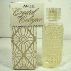 Miniaturas de perfumes antiguos: DIFICIL COLONIA 120 ML -AVON PROMISE OF HEAVEN -TARRO DE CRISTAL -PERFUME BOTE FRASCO. Lote 269805128
