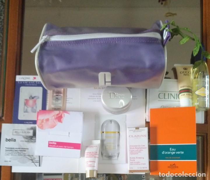 NECESER CLINIQUE CON COSMÉTICOS INCLUÍDO DIOR CAPTURE TOTALE (Coleccionismo - Miniaturas de Perfumes)