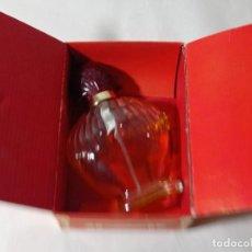 Miniaturas de perfumes antiguos: BOTELLA PERFUME DE COLECCIÓN EN SU CAJA RED BOX PARÍS. ORIGINAL NO COPIA. REF.AUTO. Lote 277514893