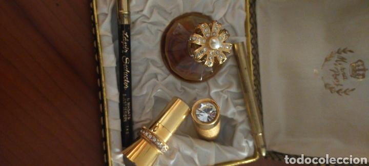 Miniaturas de perfumes antiguos: MYRNA PONS ESTUCHE PERFUME(HUELE DE MARAVILLA) LÁPIZ OJOS Y GUARDA PINTALABIOS - Foto 3 - 288327398