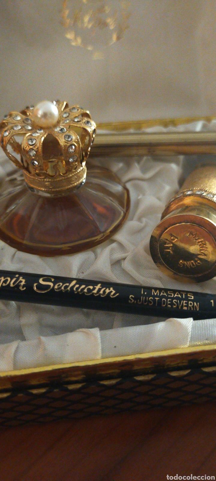Miniaturas de perfumes antiguos: MYRNA PONS ESTUCHE PERFUME(HUELE DE MARAVILLA) LÁPIZ OJOS Y GUARDA PINTALABIOS - Foto 4 - 288327398