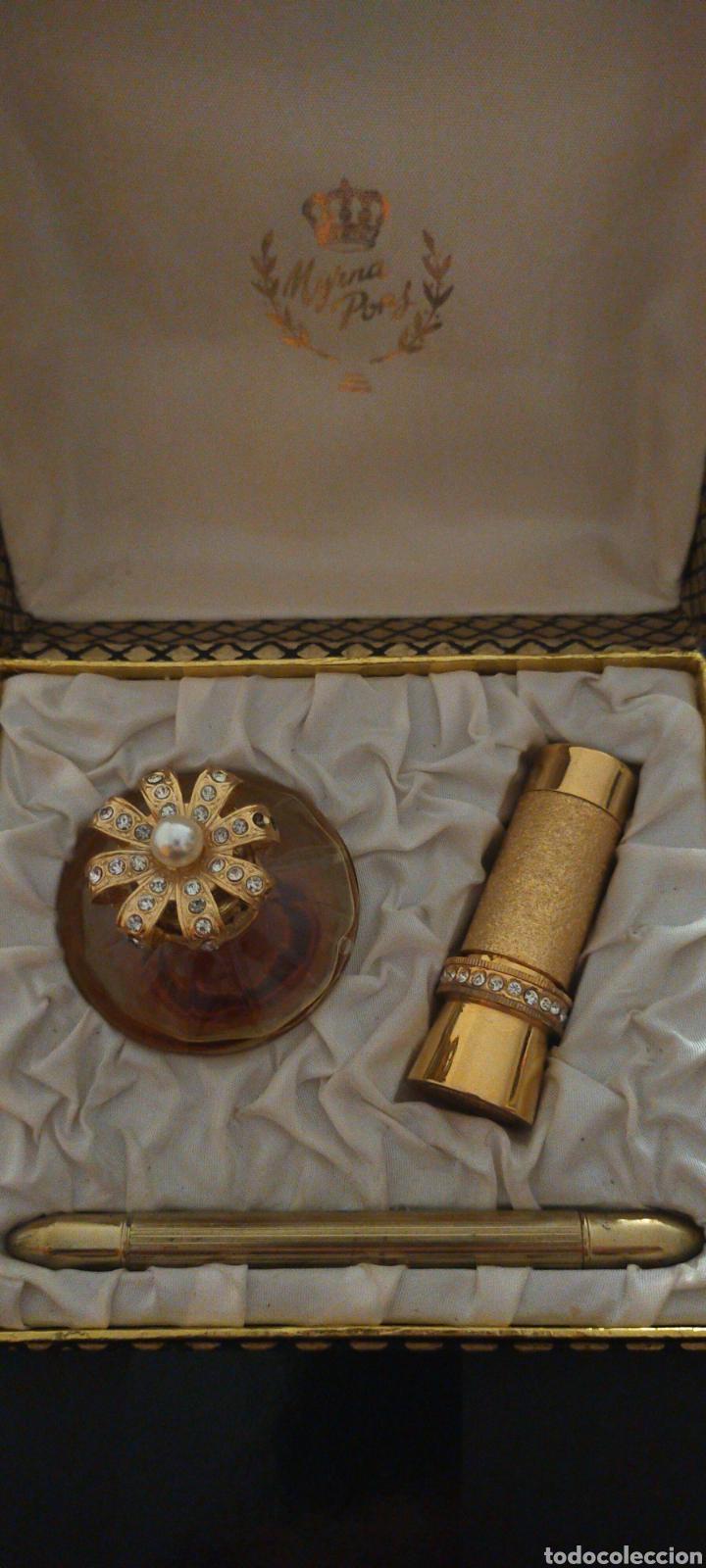 Miniaturas de perfumes antiguos: MYRNA PONS ESTUCHE PERFUME(HUELE DE MARAVILLA) LÁPIZ OJOS Y GUARDA PINTALABIOS - Foto 8 - 288327398