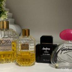Miniaturas de perfumes antiguos: LOTE DE FRASCOS VACIOS DE COLONIAS ANTIGUAS. JOYA GIOVANNA ANDROS. SOLO COLECCIÓN. Lote 289750933
