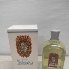 Miniaturas de perfumes antiguos: COLONIA FLOR DE BLASON MYRURGIA. 120 ML. EN SU CAJA ORIGINAL. SIN USO. Lote 289823098