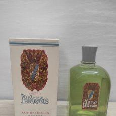 Miniaturas de perfumes antiguos: COLONIA FLOR DE BLASON MYRURGIA. 440 ML. EN SU CAJA ORIGINAL. SIN USO. Lote 289826063
