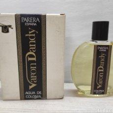 Miniaturas de perfumes antiguos: COLONIA VARON DANDY, FOR MEN. MOD. 1/4 LIT. Nº 0006. PERFUMERÍA PARERA.. Lote 289829343