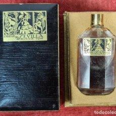 Miniaturas de perfumes antiguos: EMBRUJO DE SEVILLA. PERFUME PARA SEÑORA. MYRURGIA. CAJA ORIGINAL. ESPAÑA. 1933.. Lote 292551033