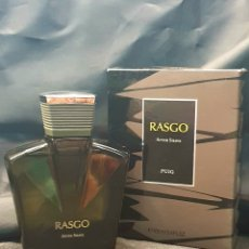 Miniaturas de perfumes antiguos: BOTELLA RASGO MASAJE DE 100 ML - COLONIA PERFUME AFTER SHAVE PUIG ENVASE ANTIGUA ESPAÑA. Lote 294278908