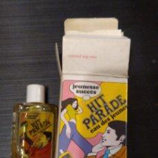 Miniaturas de perfumes antiguos: MINIATURA RARO FRASCO DE COLONIA SIN USAR HIT PARADE EAU DES JEUNES PSICODELICA AÑOS 60-70'S. Lote 295485973