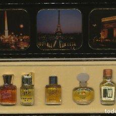 Miniaturas de perfumes antiguos: MINIATURAS DE PERFUMES DE PARÍS 7 MINIATURAS - SOCIÉTÉ GÉNÉRALE DE PERFUMERIE - MONTE CARLO - MÓNACO. Lote 295491248