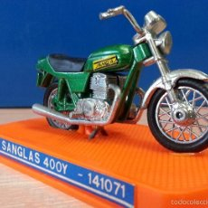 Hobbys: GUILOY - MOTO A ESCALA SANGLAS 400Y - NUEVA CON CAJA / URNA ORIGINAL - PERFECTO ESTADO. Lote 57667320