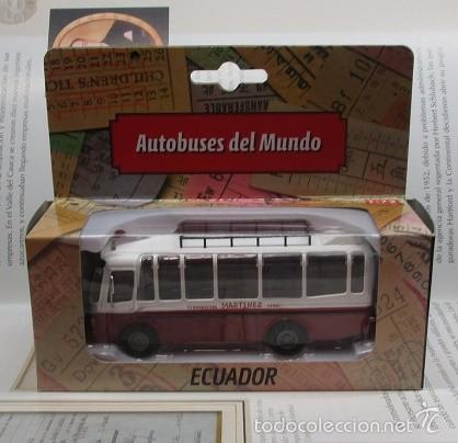 Hobbys: AUTOBUS BUS BUSETA COLECTIVO ECUADOR ESCALA 1/72 13CM LARGO METALICO COLECCION NUEVO IXO LUPPA - Foto 10 - 141664366