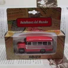 Hobbys: ANTIGUO AUTOBUS BUS BUSETA BOLIVIA A ESCALA 1/72 11CM LARGO METALICO DE COLECCION NUEVO. Lote 141664344