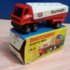CAMION MATCHBOX SUPERFAST #63 - FREEWAY GAS TANKER TRUCK / CAMIÓN CISTERNA -