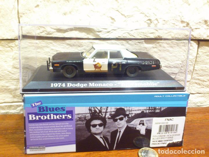 Dodge Mónaco 1974 con altavoz coche modelo 1:43//GreenLight blues brothers