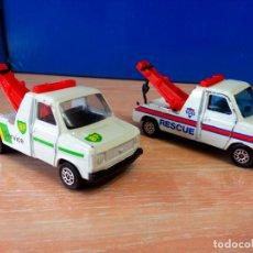 Hobbys: CORGI - LOTE DE 2 FORD TRANSIT GRUA - POLICIA Y BP SERVICE - FORD TRANSIT WRECKER - VER FOTOS. Lote 78613869