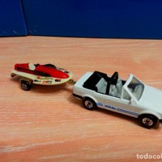 Hobbys: MATCHBOX FORD ESCORT XR3I CABRIOLET 1985 CON REMOLQUE LANCHA RACING. Lote 80533109