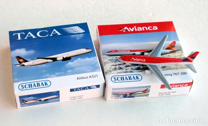 SCHABAK 1/600 • AVIANCA BOEING 767-300 + TACA AIRBUS A321 • ESCALA 1:600 (Juguetes - Modelismo y Radiocontrol - Diecast)