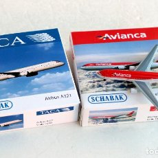 Hobbys: SCHABAK 1/600 • AVIANCA BOEING 767-300 + TACA AIRBUS A321 • ESCALA 1:600. Lote 95622299