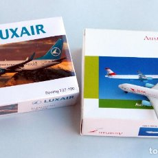 Hobbys: SCHABAK 1/600 • LUXAIR BOEING 737-700 + AUSTRIAN AIRBUS A321 • ESCALA 1:600. Lote 95622671