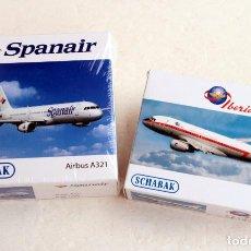 Hobbys: SCHABAK 1/600 • SPANAIR AIRBUS A321 + IBERIA AIRBUS A319 'RETRO' • ESCALA 1:600. Lote 95624707