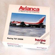 Hobbys: HERPA WINGS 1:500 • BOEING 767-200ER (E. RANGE) AVIANCA • METÁLICO ESCALA 1/500. Lote 96703579