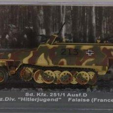 Hobbys: MAQUETA SEMIORUGA SDKFZ 251/1 AUSF. D, 12 SS PZ. HITLERJUGEND, FALAISE 1944, 1/72, ALTAYA. Lote 147061969