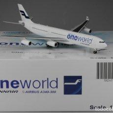 Hobbys: JC WINGS 1/200 , AIRBUS A340-300 FINNAIR ONE. Lote 117292399