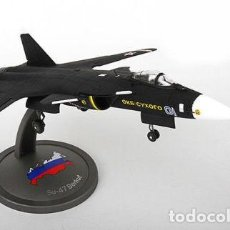 Hobbys: 1/72 GAINCORP 1:72 SU-47 BERKUT FIGHT AVIÓN DIECAST RUSIA. Lote 117637519