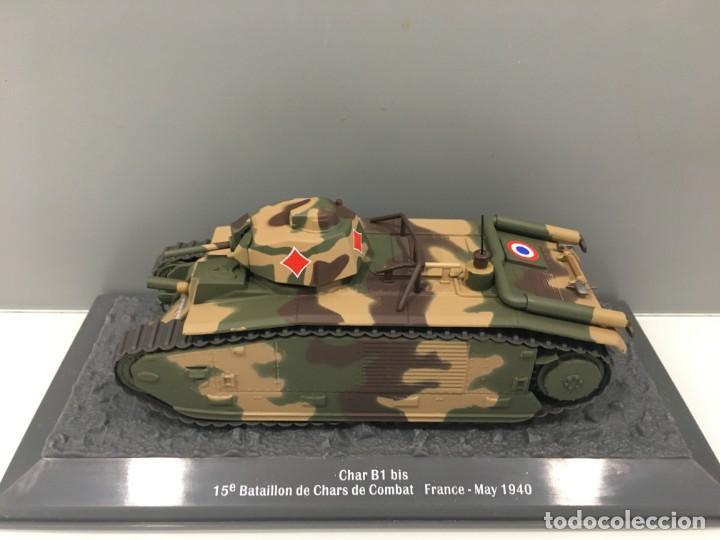 Hobbys: Carro de combate de la segunda guerra mundial CHAR B1 BIS. fRANCIA - Foto 2 - 134220698
