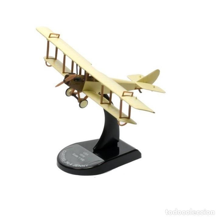 Curtiss JN-4 Jenny USA 1916 1:100 Biplane aircraft Altaya Diecast