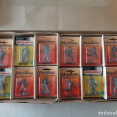 Hobbys: METALLIONS. COWBOYS-INDIANS-KNIGHES.36 FIGURAS. Lote 193450870