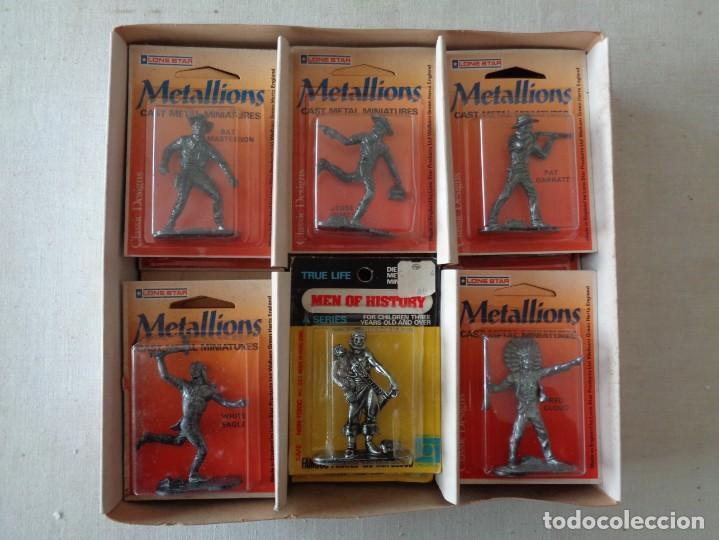 Hobbys: METALLIONS. COWBOYS-INDIANS-KNIGHES.36 FIGURAS - Foto 5 - 193450870