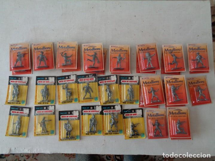 Hobbys: METALLIONS. COWBOYS-INDIANS-KNIGHES.36 FIGURAS - Foto 7 - 193450870