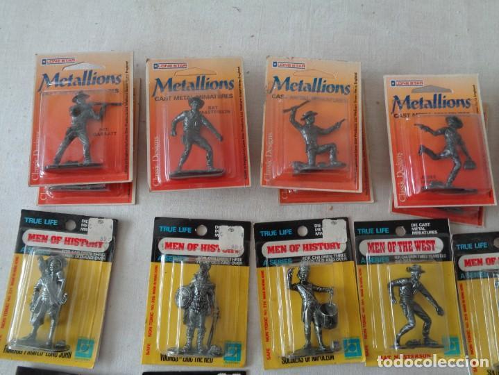 Hobbys: METALLIONS. COWBOYS-INDIANS-KNIGHES.36 FIGURAS - Foto 8 - 193450870