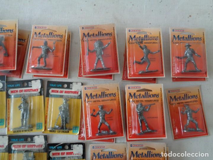 Hobbys: METALLIONS. COWBOYS-INDIANS-KNIGHES.36 FIGURAS - Foto 9 - 193450870