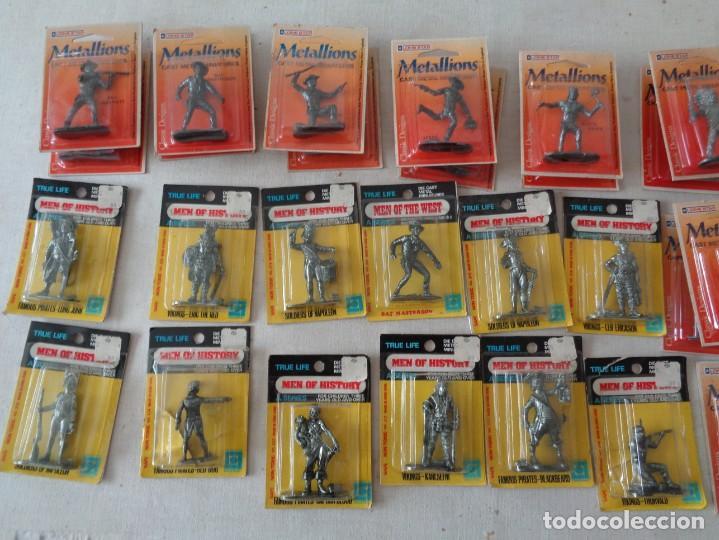 Hobbys: METALLIONS. COWBOYS-INDIANS-KNIGHES.36 FIGURAS - Foto 11 - 193450870