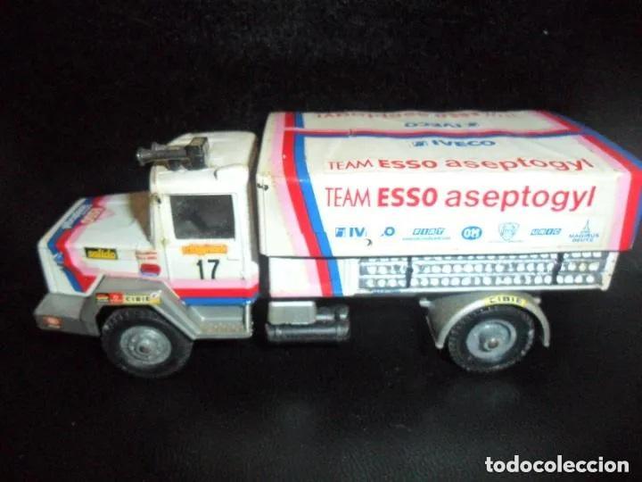 CAMION IVECO TRANSAFRICA EQUIPO ESSO 1980 - 1/50 - SOLIDO DIECAST METAL- (Juguetes - Modelismo y Radiocontrol - Diecast)