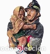 Hobbys: FIGURA DE COLECCIONISTA: Bombero con traje ignífugo, San Giuliano, Italia, plomo/estaño. A ESTRENAR - Foto 2 - 244885405
