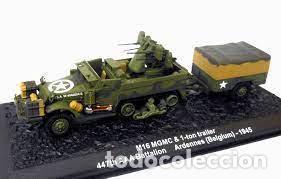 Hobbys: ALTAYA - M16 MGMC & 1-TOM TRAILER 447 AAA BATALLON ARDENAS 1944 1/43 - Foto 2 - 260325215